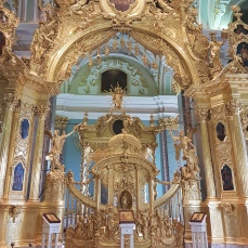 The altar in the church of Saints Peter & Paul.