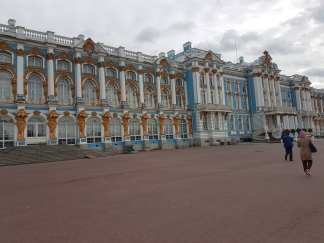 The facade of the Catherine Palace.