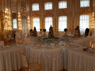 The dining room of the Catherine Palace.
