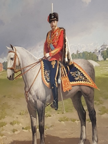 A portrait of Tsar Nicholas II, overthrown in the Revolution of 1917.