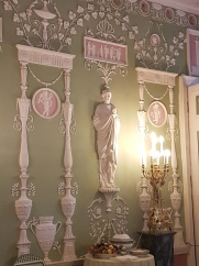 Wall treatment in one of the palace rooms.
