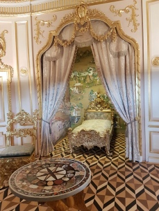 A small bedroom for a bigwig.