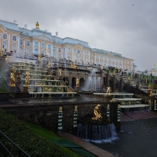 The impressive facade of Peterhof.