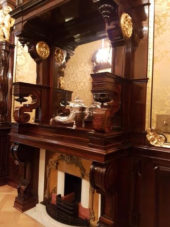 Interior woodwork is stunning.