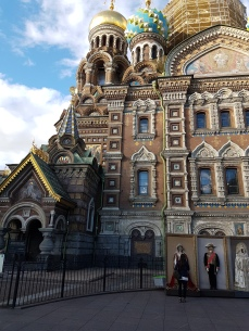 Part of the facade of the Church of the Spilled blood.