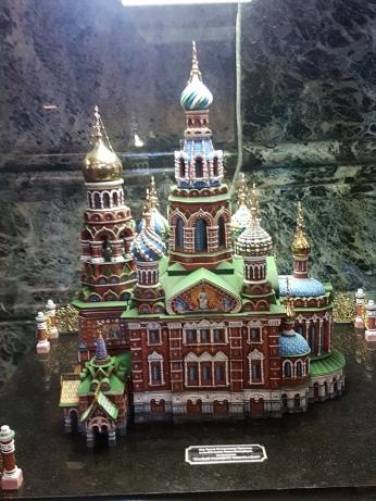 Inside the church is a miniature replica.
