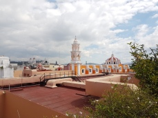 Nice views of the city from the Amparo terrace.