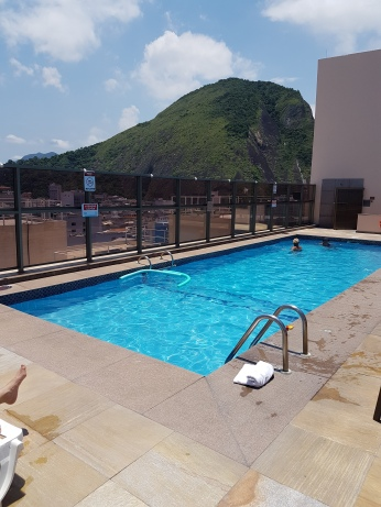 The JW Marriott Copacabana roof-top pool.