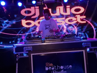 Three DJs provided popular disco tunes for dancing.