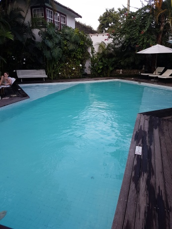 The pool is well maintained but rather shallow.