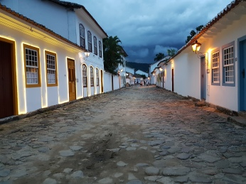 The Pousada has two different styles of rooms on each side of the street.