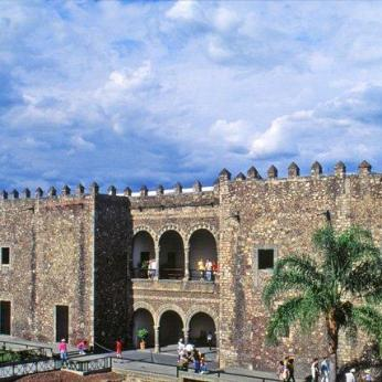 The Cortés Palace, built by the conquistador in 1526.