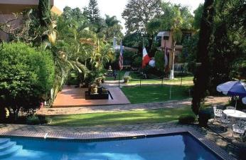 Part of the campus of Universidad Internacional, Cuernavaca, Morelos, Mexico.