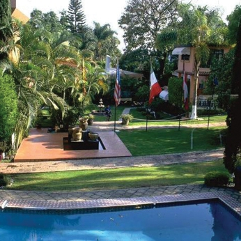 Part of the campus of Universidad Internacional, Cuernavaca, Morelos, Mexico.