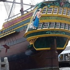 A replicda of a Dutch East Indies Company vessel that traded abroad in the 17th Century.