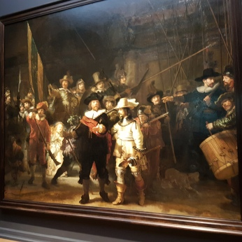 Rembrandt's famous Night Watch.