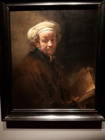 A Rembrandt self protrait.
