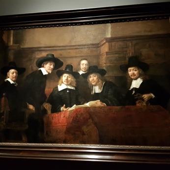 Part of the Rijksmuseum special Rembrandt exhibit.