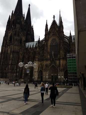 The Cologne Cathedral facade.