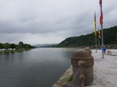 Deutches Eck, the confluence of the Rhine and the Moselle Rivers.