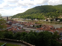 Heidelberg as seen from the castle.