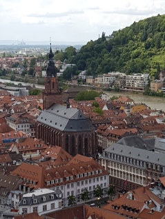 A zoom shot of Heidelberg from the castle.