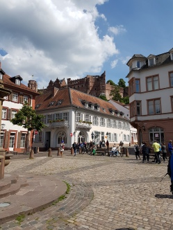 A lovely square in Heidelberg.