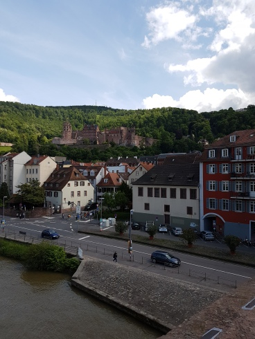 Nice scens of Heidelberg from the castle windows,