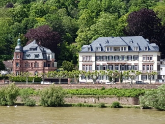 A mansion on the Rhine just across the bridge.