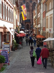Narrow streets in old Heidelberg