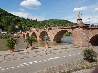 The old bridge across the Neckar River, 1788.