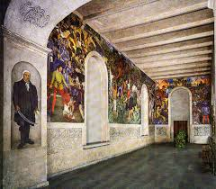 The Diego Rivera Murals, Museo Cuahnáhuac, Cortés Palace, Cuernavaca, Mexico. Web photo.