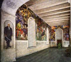 The Diego Rivera Murals, Museo Cuahnáhuac, Cortés Palace, Cuernavaca, Mexico. Web photo.