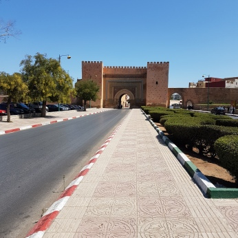 The Bab Mansour gate is the entryway to Meknes.