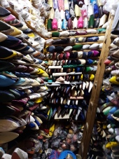 An incredible array of shoes and slippers, none in my size.