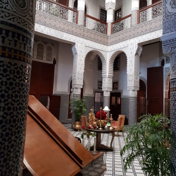The deluxe Riad Fes, a delightful oasis in the medina.