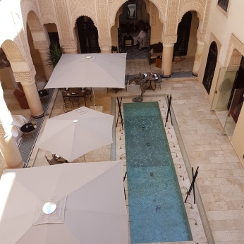 The dining area of the Riad Fes.