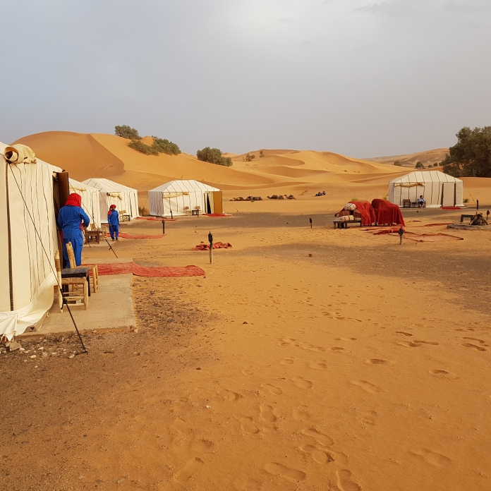 "The Erg Chebbi ""luxury"" tent camp."