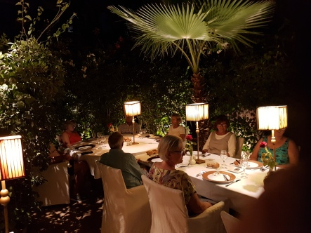 The splendid garden restaurant of the Hotel Jardin da la Koutoubia.