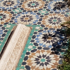 Typical tile work decorates the Saadian tombs.