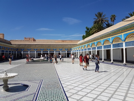 No explanation for the enormous interior plaza of the Bahia Palace.