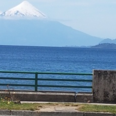Osorno Volcano, 2652 meters high, resembles Mt. Fuji in Japan.