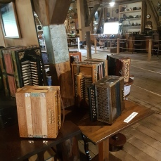 Several old accordions.