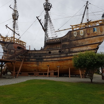 A reproduction of Magellan's ship Victoria.