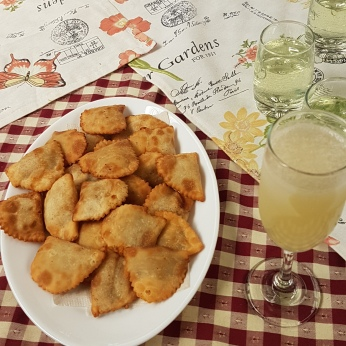 Pisco sours and llama empanadas for starters.