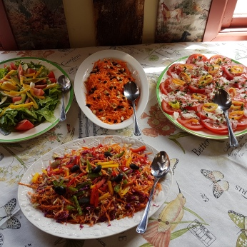 A delicious array of side dishes.