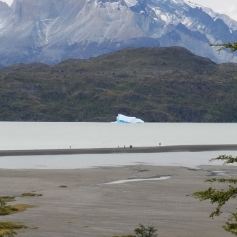 An iceberg in Grey Lake.