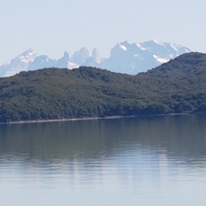 In the distance, we could see the Torres del Paine we had visited on the two previous days.