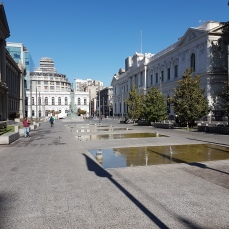 Pedestrian streets and plazas graces the capital's downtown.