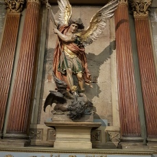 A beautiful image of Saint Michael the Archangel in the cathdral.